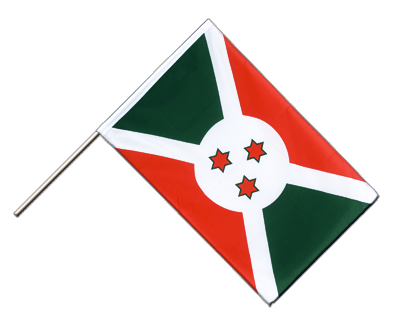 Burundi Hand Waver Flag ECO - 2x3 ft