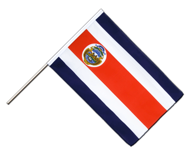Hand Waving Flag ECO Costa Rica - 2x3 ft