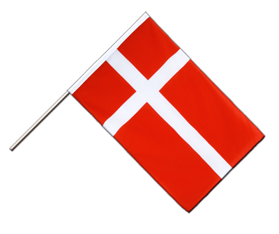 Hand Waving Flag ECO Denmark - 2x3 ft