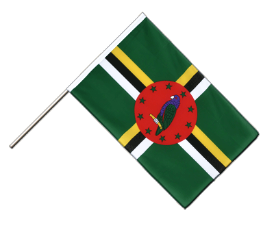 Hand Waving Flag ECO Dominica - 2x3 ft