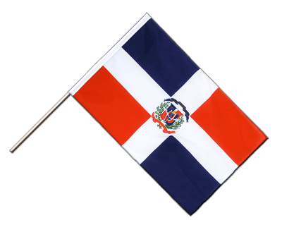 Hand Waving Flag ECO Dominican Republic - 2x3 ft