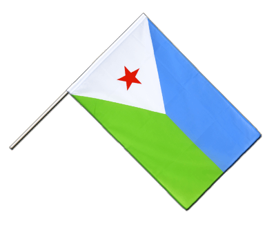 Hand Waving Flag ECO Djibouti - 2x3 ft