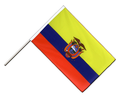 Hand Waving Flag ECO Ecuador - 2x3 ft