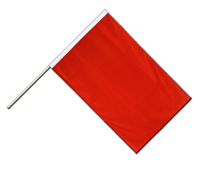 Hand Waving Flag ECO red - 2x3 ft