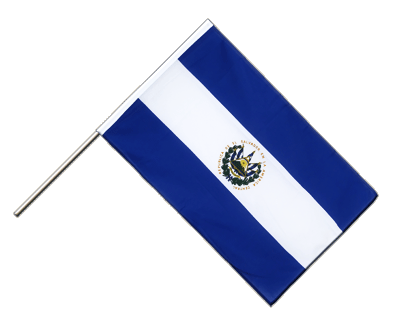 Hand Waving Flag ECO El Salvador - 2x3 ft