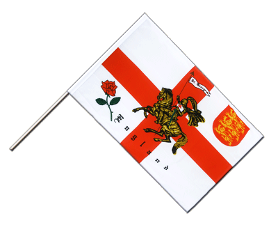 Hand Waving Flag ECO England with knight - 2x3 ft