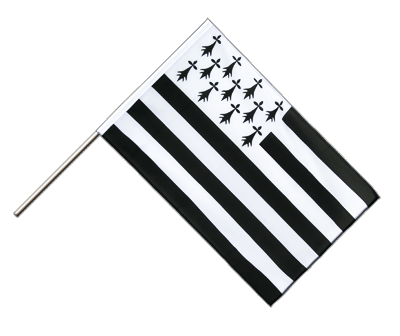 Hand Waving Flag ECO Brittany - 2x3 ft