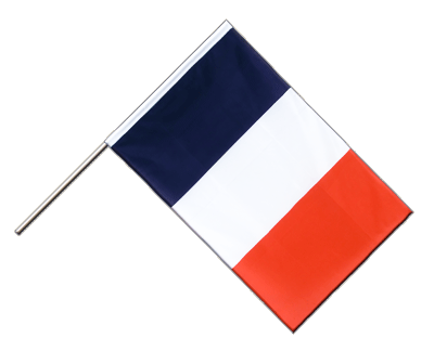 Hand Waving Flag ECO France - 2x3 ft