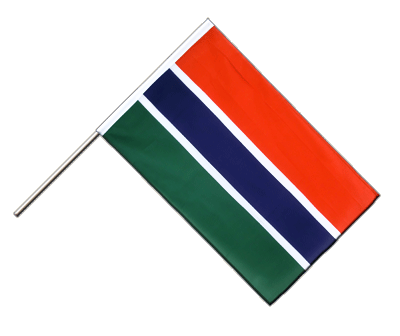 Hand Waving Flag ECO Gambia - 2x3 ft