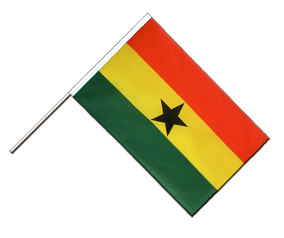 Hand Waving Flag ECO Ghana - 2x3 ft