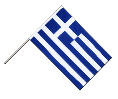 Hand Waving Flag ECO Greece - 2x3 ft