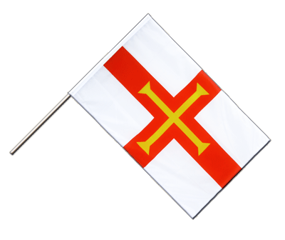 Hand Waving Flag ECO Guernsey - 2x3 ft