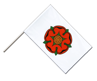 Hand Waving Flag ECO Lancashire red rose - 2x3 ft