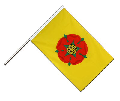 Hand Waving Flag ECO Lancashire new - 2x3 ft