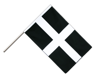 Hand Waving Flag ECO St. Piran Cornwall - 2x3 ft