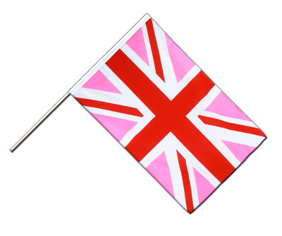 Hand Waving Flag ECO Union Jack pink - 2x3 ft