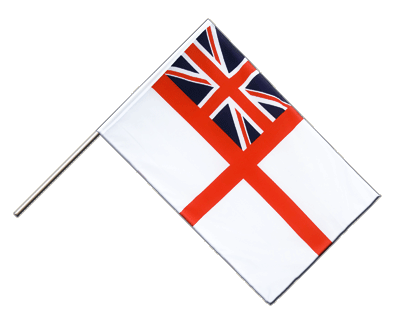 Drapeau Royaume-Uni Naval Ensign of the White Squadron sur hampe ECO 60 x 90 cm