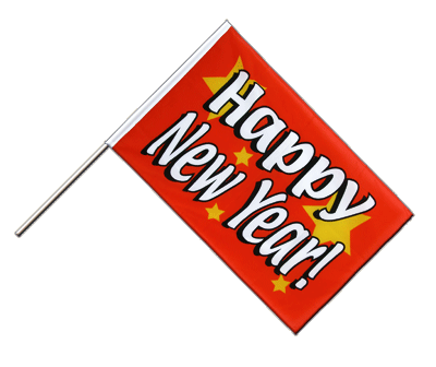 Happy New Year - Stockflagge ECO 60 x 90 cm