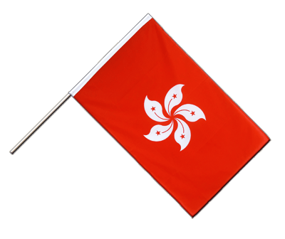 Hand Waving Flag ECO Hong Kong - 2x3 ft
