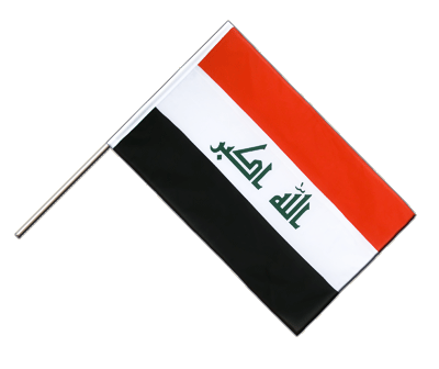 Hand Waving Flag ECO Iraq 2009 - 2x3 ft