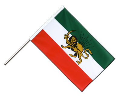 Hand Waving Flag ECO Iran Shahzeit - 2x3 ft