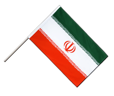 Hand Waving Flag ECO Iran - 2x3 ft