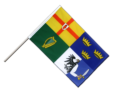 Hand Waving Flag ECO Ireland 4 provinces - 2x3 ft