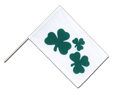 Hand Waving Flag ECO Shamrock - 2x3 ft