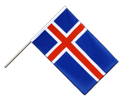 Hand Waving Flag ECO Iceland - 2x3 ft