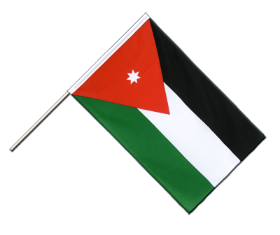 Hand Waving Flag ECO Jordan - 2x3 ft