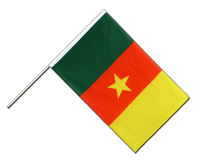 Cameroon Hand Waver Flag ECO - 2x3 ft