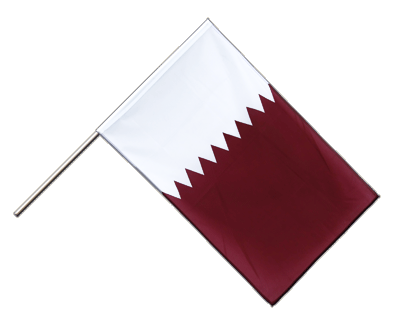 Hand Waving Flag ECO Qatar - 2x3 ft