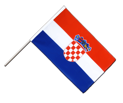 Hand Waving Flag ECO Croatia - 2x3 ft