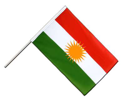 Kurdistan Hand Waver Flag ECO - 2x3 ft