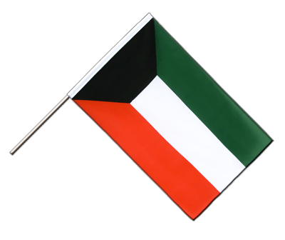 Hand Waving Flag ECO Kuwait - 2x3 ft