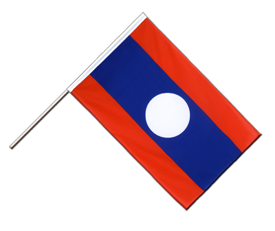 Hand Waving Flag ECO Laos - 2x3 ft