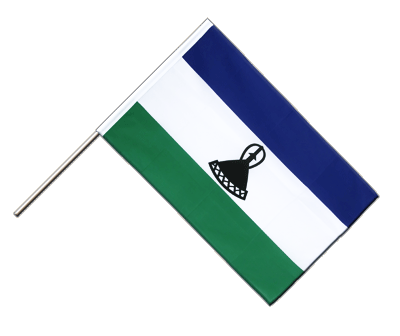 Hand Waving Flag ECO Lesotho new - 2x3 ft