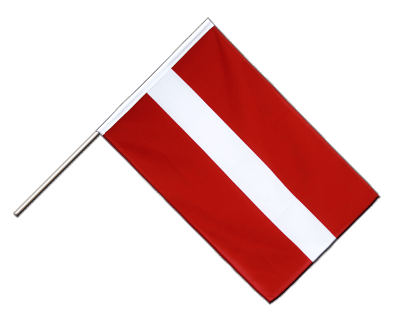 Hand Waving Flag ECO Latvia - 2x3 ft