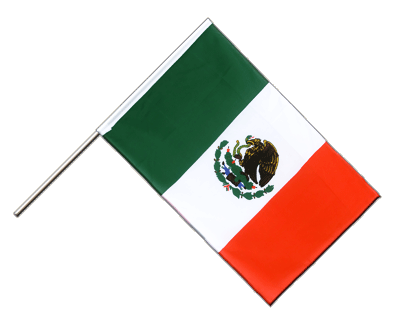 Hand Waving Flag ECO Mexico - 2x3 ft