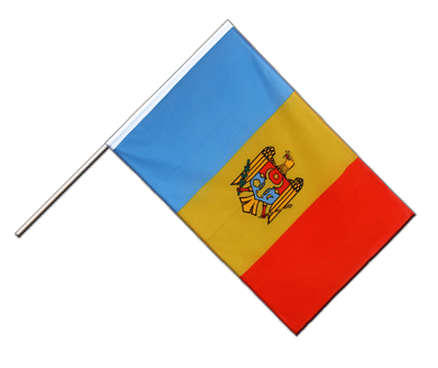 Drapeau sur hampe ECO Moldavie 60x90cm