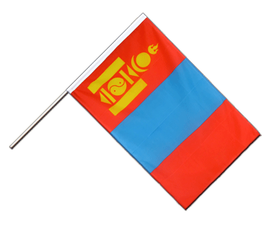 Mongolia Hand Waver Flag ECO - 2x3 ft