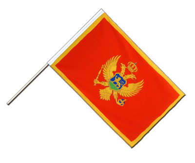 Hand Waving Flag ECO Montenegro - 2x3 ft