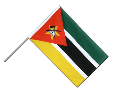 Hand Waving Flag ECO Mozambique - 2x3 ft
