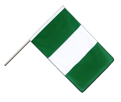 Hand Waving Flag ECO Nigeria - 2x3 ft