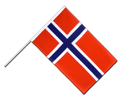 Hand Waving Flag ECO Norway - 2x3 ft