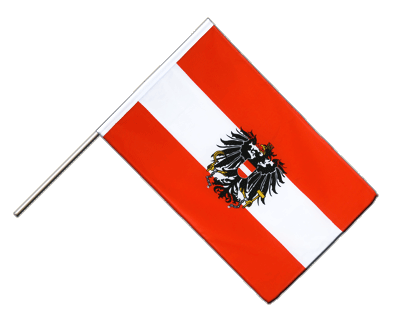 Hand Waving Flag ECO Austria eagle - 2x3 ft