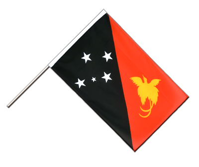 Papua New Guinea Hand Waver Flag ECO - 2x3 ft
