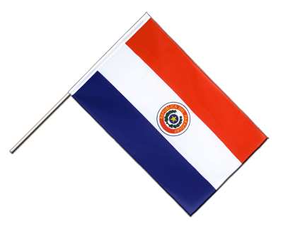 Hand Waving Flag ECO Paraguay - 2x3 ft
