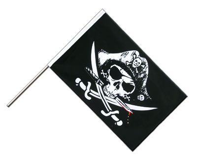 Pirate with bloody sabre Hand Waver Flag ECO - 2x3 ft