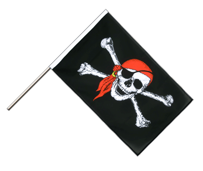 Hand Waving Flag ECO Pirate with bandana - 2x3 ft